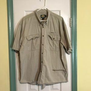 Cabelas Men's Button Down Short Sleeve Shirt XL